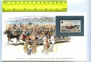 255166 ISLE of MAN toast rack tram card w/ mint stamp