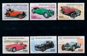 [76425] Congo Brazzaville 1996 Classic Cars Aston Martin Morris MG Alvis  MNH