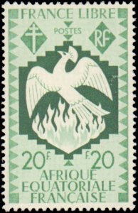French Equatorial Africa #142-151, 153-155, Incomplete Set(13), W/O 152, 1941...