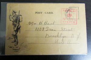 US WWI Private Soldier Card w/ tobacco smoker propaganda card