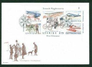 Sweden. FDC 1984. Swedish Aviation History.  Engraver  Z Jakus