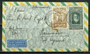 BRAZIL SAO PAULO SP 8/31/48 AIR MAIL COVER TO HANNOVER AS SHOWN 3