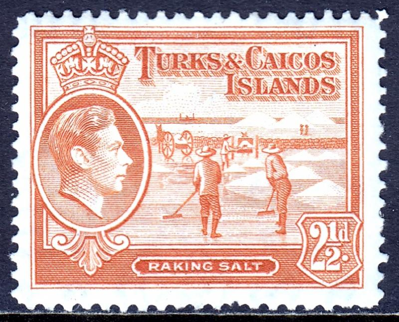 Turks and Caicos Islands - Scott #83 - MH - One pulled perf/bottom - SCV $2.50