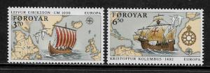 Faroe Is #236-7 MNH Set - Europa