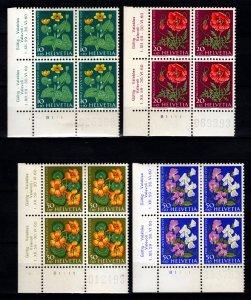 Switzerland Pro Juventute 1959 Children's Fund Part Plate Block Set [Unused]