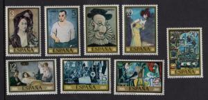 Spain  #2108-2115    MNH  1978  Picasso paintings