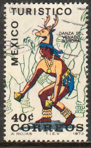 MEXICO 1013, TOURISM PROMOTION, DANCE OF THE DEER, SONORA. USED (1249)