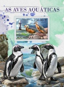 Mozambique - 2016 Water Birds & Lighthouses - Souvenir Sheet-MOZ16509b