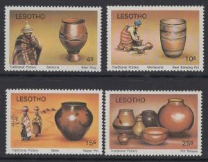 Lesotho MNH 297-300 Pottery 1980