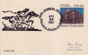 United States, Government Postal Card, Event, Horses, Fancy Cancels, California