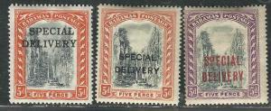 Bahamas E1-3 SG S1-3 MNH/MH F/VF 1916-17 SCV $16.40