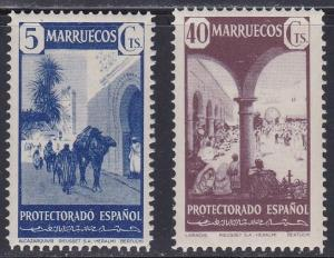Spanish Morocco # 234A-235, Market Place, NH, 1/2 Cat.