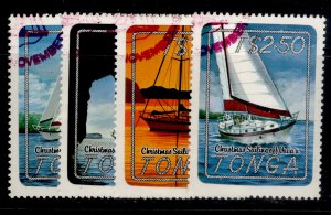 TONGA QEII SG857-860, 1983 Christmas Yachting off Vava'u set, FINE USED.
