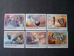 Mozambique 2009 MNH History of Space #2 Sputnik Apollo Wostok Explorer