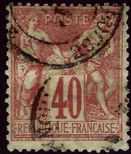 France #74 Used F-VF hhr SCV$32.50...Iconic Stamp!