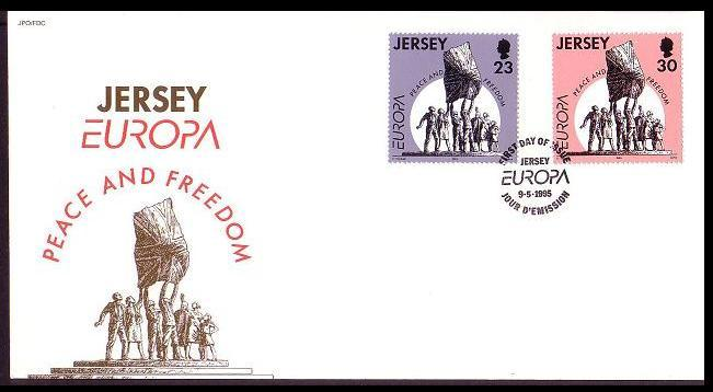 Jersey Europa Peace and Freedom FDC SG#698-699