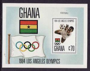 Ghana-Sc #950-sheet-1984 Olympics-Sports-unused-NH-