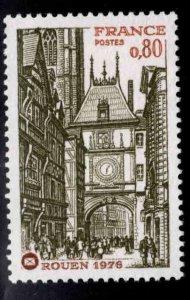 France Scott 1476 MNH** Rouen Gate stamp