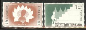 Thailand Scott 440-441 MH* stamp 1966 set