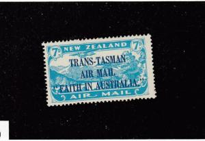 NEW ZEALAND # C5 VF-MH TRANS-TASMAN CAT VALUE $50