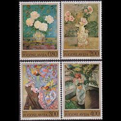 YUGOSLAVIA 1974 - Scott# 1226-9 Paintings 80p-4d LH