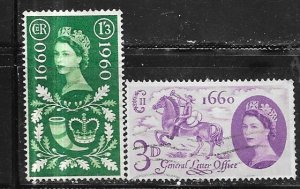 GB #375-376   General Post Office (U) CV $2.75