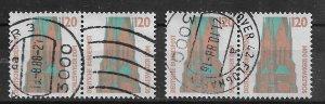 Germany PAIR  used 1988 Mi 1375