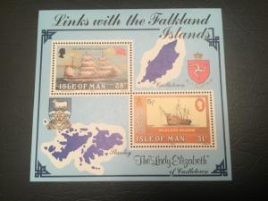 ICOLLECTZONE Isle of Man 1983 Links with Falkland Sheet ships VF NH