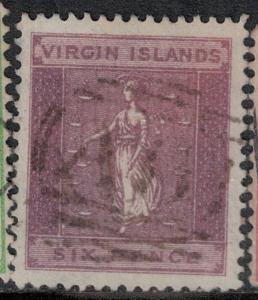 Virgin Islands 1887 SC 17 Used SCV $55