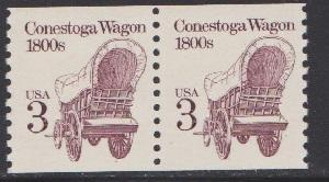 2252a Conestoga Wagon F-VF MNH coil pair (no tag - shinny)