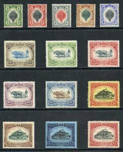 Kedah SG1/14 1912 Set of 14 wmk Mult Crown CA M/Mint