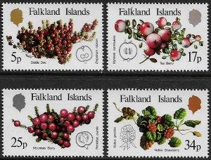 Falkland Is #379-82 MNH Set - Local Fruit