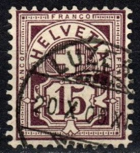 Switzerland #76 F-VF Used CV $5.75  (X1419)