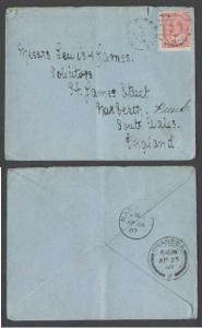 Canada #4879 - 2c KEVII to England-Birdshill,Man-Ap 15 19