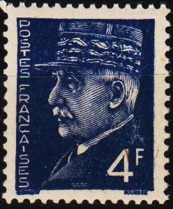 France. 1941 4f S.G.725a Unmounted Mint