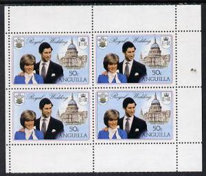 Booklet - Anguilla 1981 Royal Wedding two 50c booklet pan...