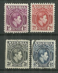 1944 Nigeria #65-8 complete KGVI set mint/used