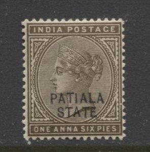 STAMP STATION PERTH Patiala State #16 QV Definitive MVLH