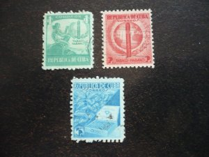 Stamps - Cuba - Scott# 356-358 - Used Set of 3 Stamps