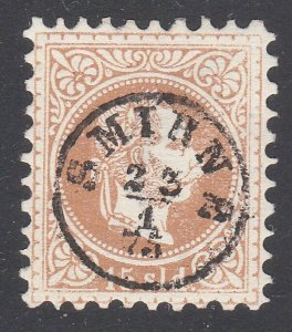 AUSTRIA LEVANT TURKEY 1875 15sld with superb small SMYRNE cds...............F512