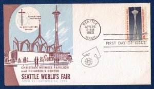US Scott Sc 1196 FDC Seattle's World Fair Apr.25,1962 VF
