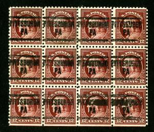 US Stamps # 435a F-VF Fresh Used Block of 12