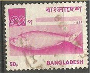BANGLADESH, 1973, used  50k,  Hilsa. Scott 48