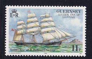 Guernsey  #367  MNH  1988  voyage golden spur ship  11p