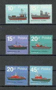 POLAND-MNH** MNH** SET-SHIPS FIRE-1988.