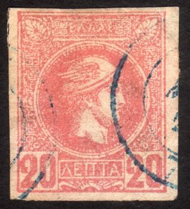 1889, Greece 20L, Used, Sc 94a