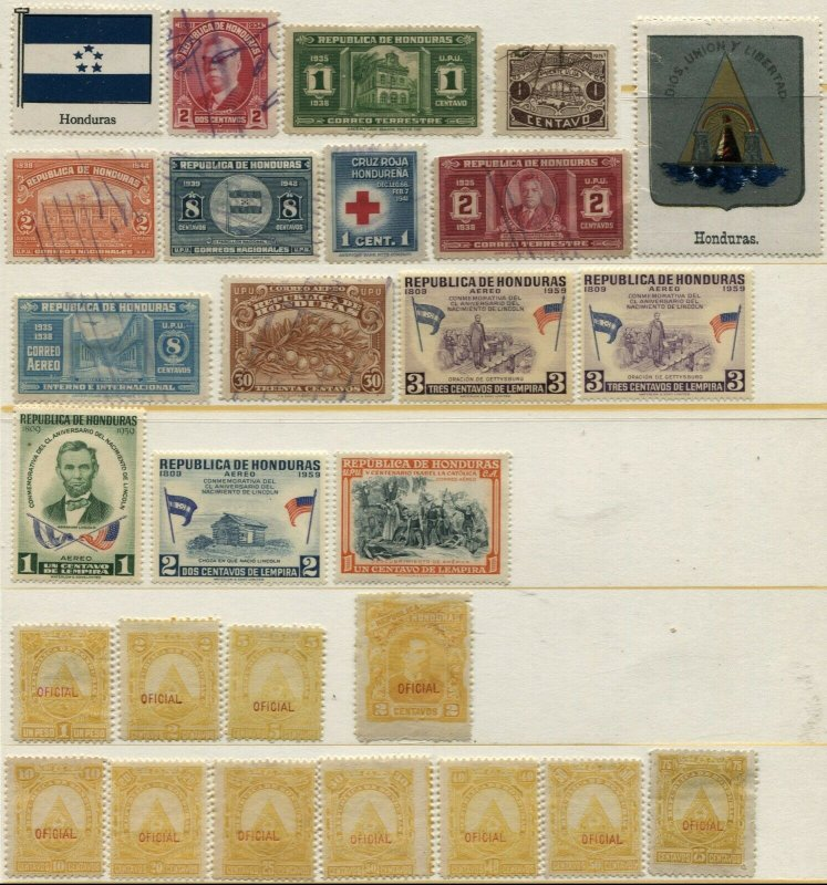 Republic HONDURAS Postage Airmail Official Latin America Stamp Collection