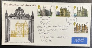 GB #831-834 Used VF/XF - First Day Cover (Full Set) - Towers 1978 [CVR197]