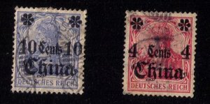 Germany Offices In China Scott #39-40 Used F-VF