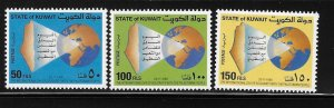 Kuwait 1988 Int'l day of Solidarity Palestinian people Sc 1081-1083 MNH A1288